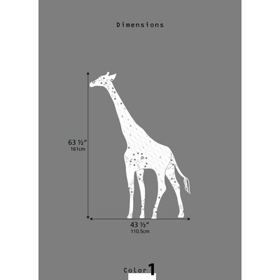 LittleLion Studio Cornet Giraffe Black Label Wall Decal