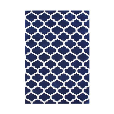 Alliyah Rugs Navy Blue & White Area Rug & Reviews | Wayfair