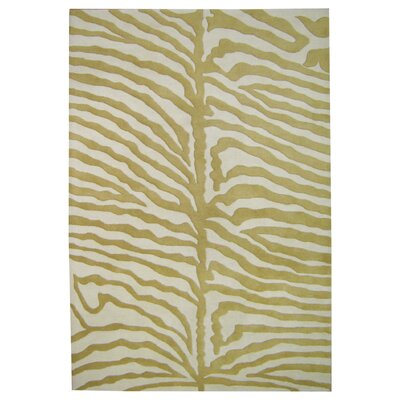 Alliyah Rugs New Casanova Olive Green/Ivory Safari Rug