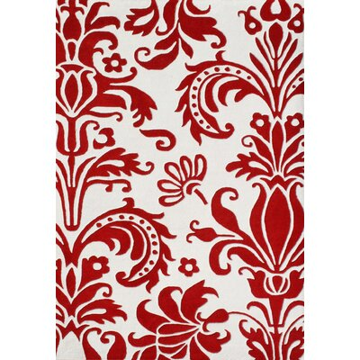 Alliyah Rugs Sabrina Off-White/Red Floral Rug