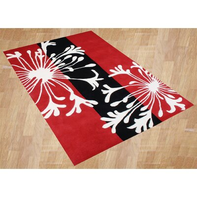 Alliyah Rugs Sabrina Red Floral Rug
