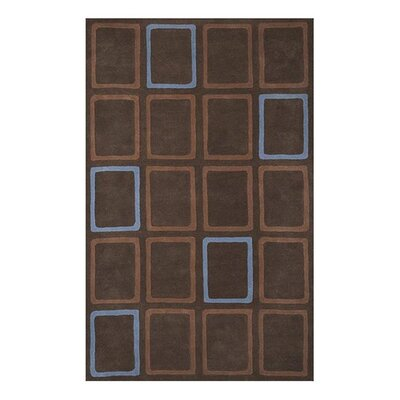 Scandinavia Brown/Blue Geometric Rug