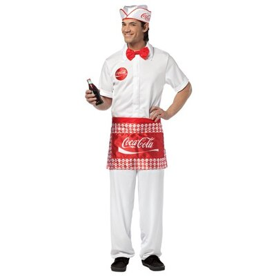 Rasta Imposta Coca Cola Soda Jerk Adult Costume