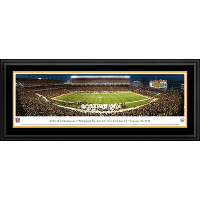 Blakeway Worldwide Panoramas, Inc NFL Pittsburgh Steelers - AFC Champions Deluxe Frame Panorama