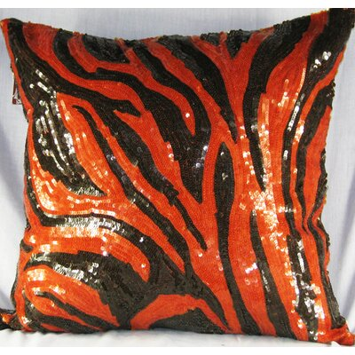 Design Accents LLC All Over Sequin Design Tiger Pillow
