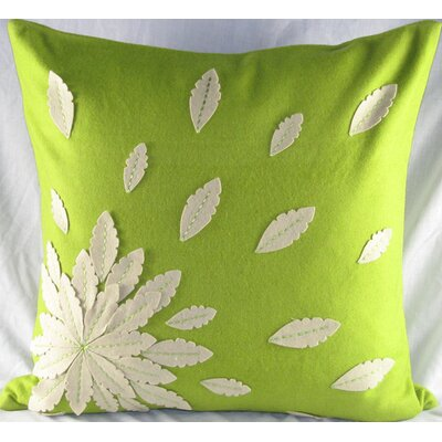 Felt Applique Flower Pillow