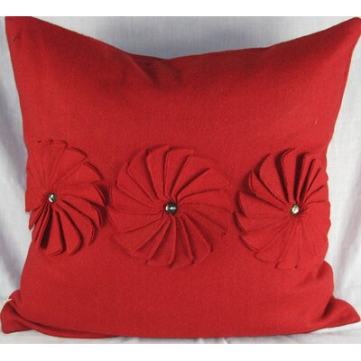 Design Accents LLC Felt Pinwheels Pillow