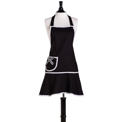 Black with White Bias Bib Carmen Apron