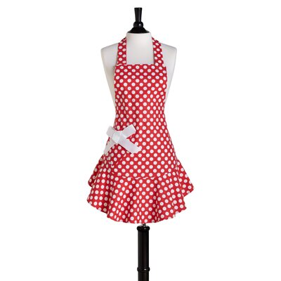 Red and White Polka Dot Bib Josephine Apron