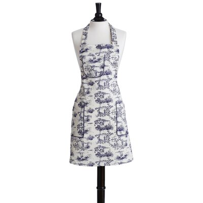 Jessie Steele Navy French Toile Bib Chef Apron