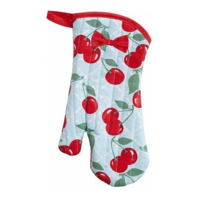 Kitchen Cherry Oven Mitt with Bow
