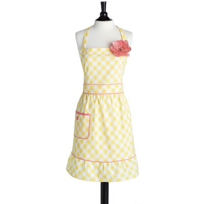 Giant Gingham Yellow Bib Courtney Apron