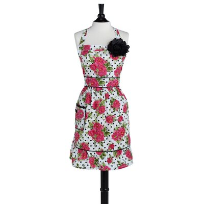 Dotted Parlor Floral Courtney Apron