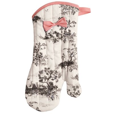 Harvest Toile Oven-Mitt with Trim