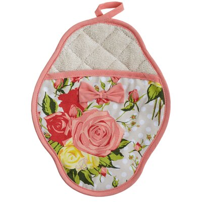 Autumn Rose Floral Scalloped Pot-Mitt