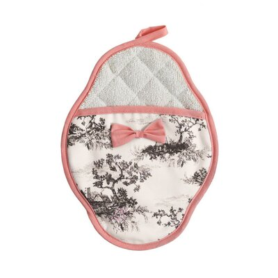 Harvest Toile Scalloped Pot-Mitt
