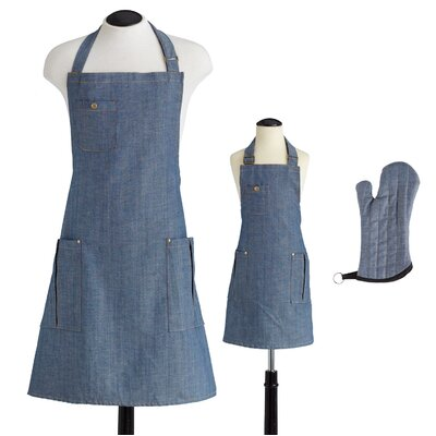 Jessie Steele Denim Children's Bib Chef Apron