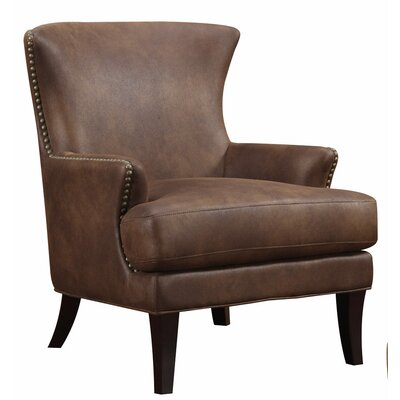 Emerald Home Furnishings Nola Faux Leather Arm Chair