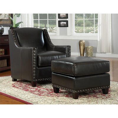 Emerald Home Furnishings Baron Chair and Ottoman