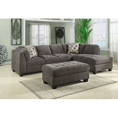 Emerald Home Furnishings Trinton Chenille Modular Sectional