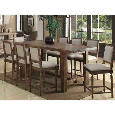 Emerald Home Furnishings Bellevue 9 Piece Counter Height Dining Set