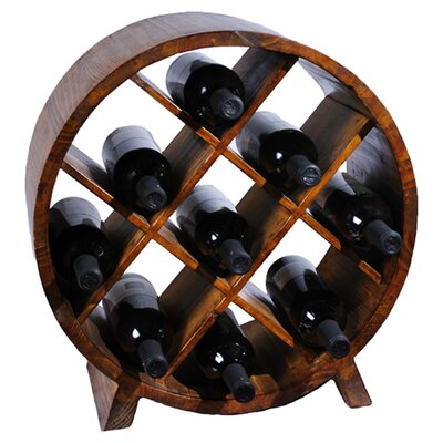 Antique Revival Sectional 9 Bottle Wine Rack