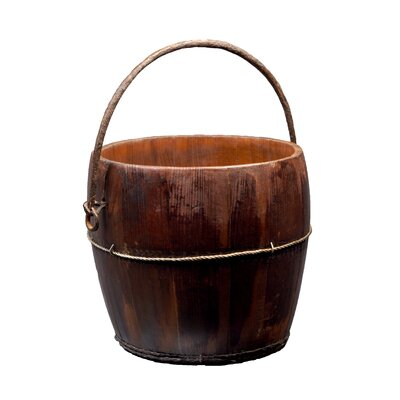 Antique Revival Vintage Round Kitchen Bucket with Iron Handle