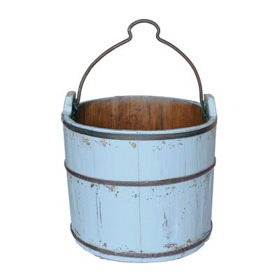 Antique Revival Vintage Iron Handle Water Bucket