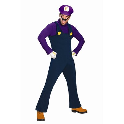 Super Mario Waluigi Adult Costume
