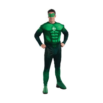 Green Lantern Deluxe Muscle Chest Hal Jordan Adult Costume