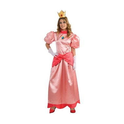 Super Mario Deluxe Princess Peach Adult Costume
