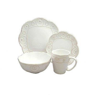 American Atelier Bianca Braid 16 Piece Dinnerware Set