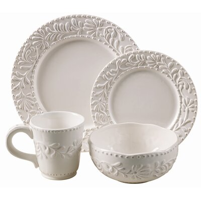 Bianca Leaf 16 Piece Dinnerware Set