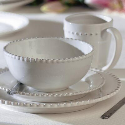 Bianca Bead 16 Piece Dinnerware Set