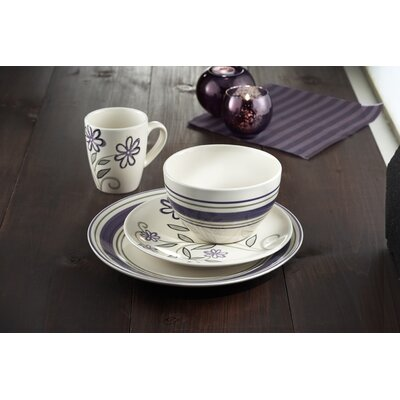 American Atelier Ashby Wineberry 16 Piece Dinnerware Set