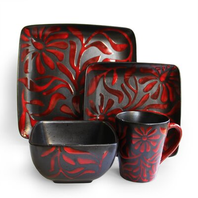Daisy 16 Piece Dinnerware Set