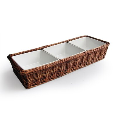 American Atelier Willow Three Section Serving Tray