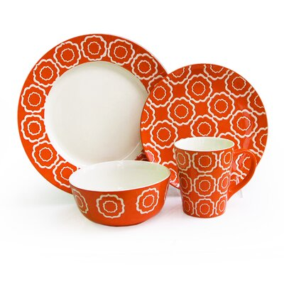 Trellis 16 Piece Dinnerware Set