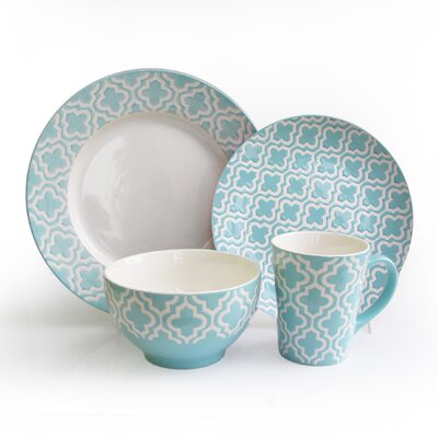 Quatre 16 Piece Dinnerware Set