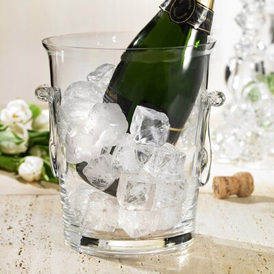 Crystal Clear Glass Ice Bucket