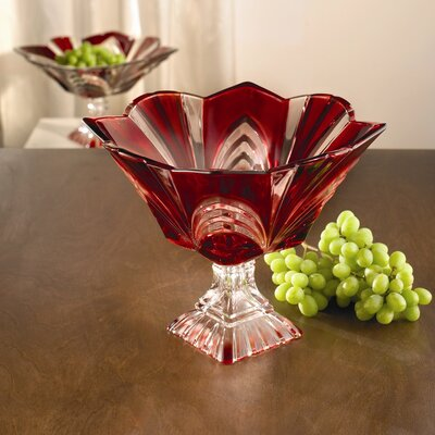 Fifth Avenue Crystal Aurora Crystal Square Pedestal Bowl