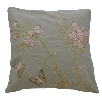 AV Home AV Home Butterfly and Flowers Embroidered Linen Pillow