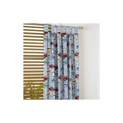 Freckles Motor Club Printed Tab Top Curtain Panel Pair
