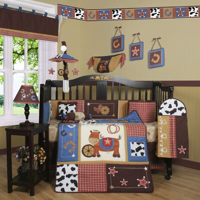 Boutique Horse Cowboy 13 Piece Crib Bedding Set