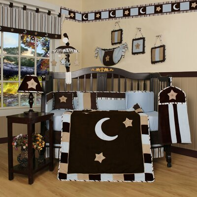 Geenny Boutique Moon and Star 13 Piece Crib Bedding Set