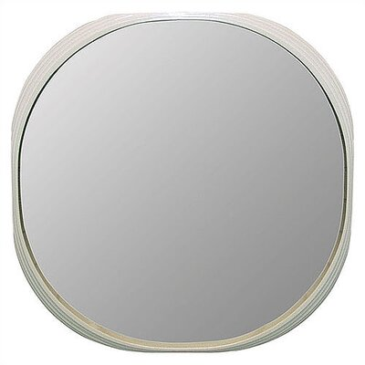 Art Dreams Deja Vu Mirror White Round Mirror - Large