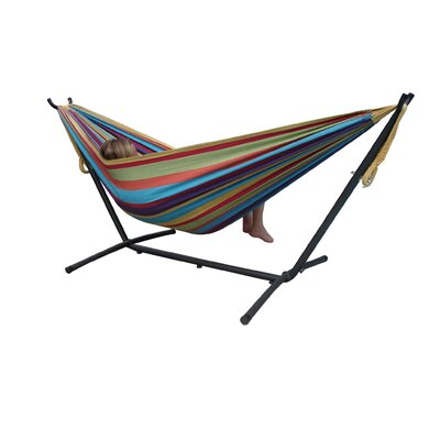 Vivere Hammocks Two Person Fabric Hammock with Stand