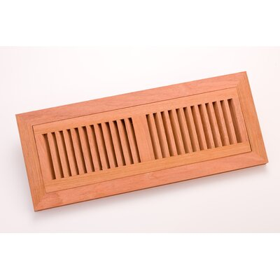 "Zoroufy 14.375"" x 4.375"" Brazilian Cherry Flush Mount Vent"