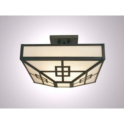 Prairie 4 Light Post Drop Semi Flush Mount Ceiling Light