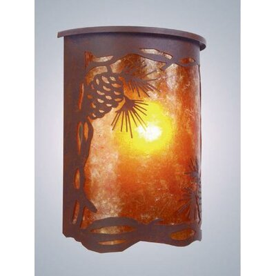 Steel Partners Pinecone 1 Light Outdoor Wall Lantern